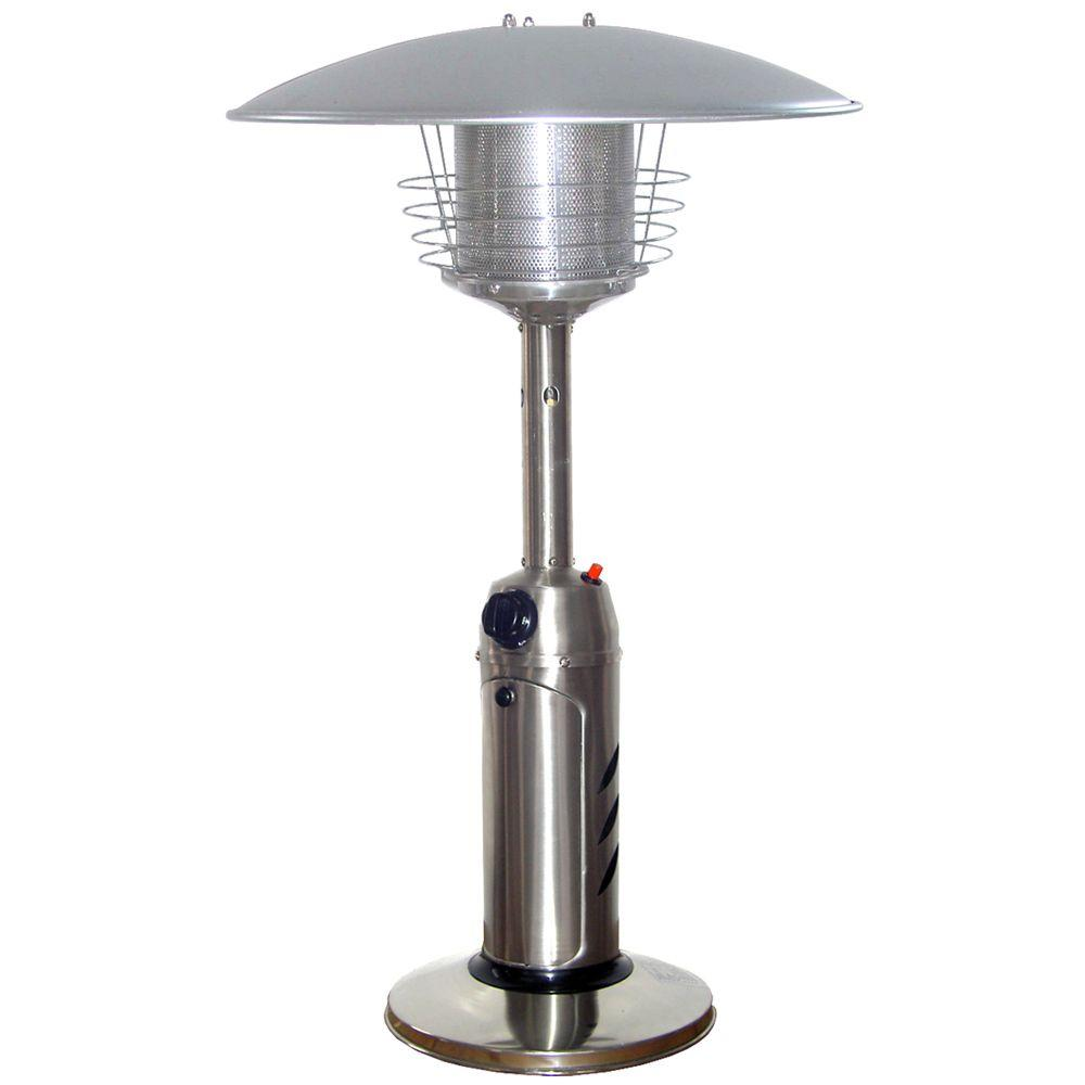 Stainless Steel Tabletop Propane Patio Heater Finish