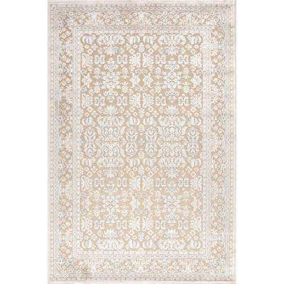 Fables Beige 12 ft. x 15 ft. Damask Rectangle Area Rug