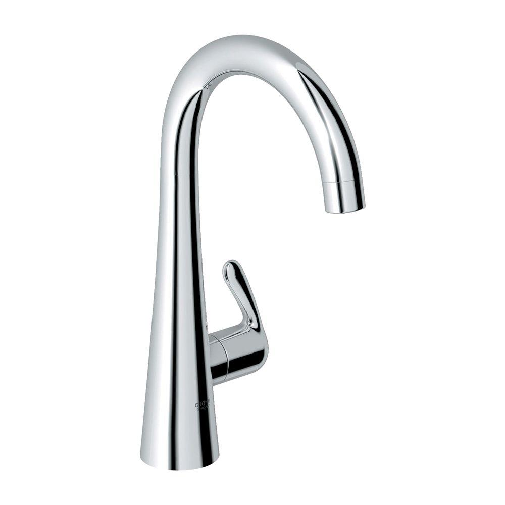 GROHE LadyLux3 Single-Handle Pull-Down Sprayer Kitchen Faucet in StarLight  Chrome