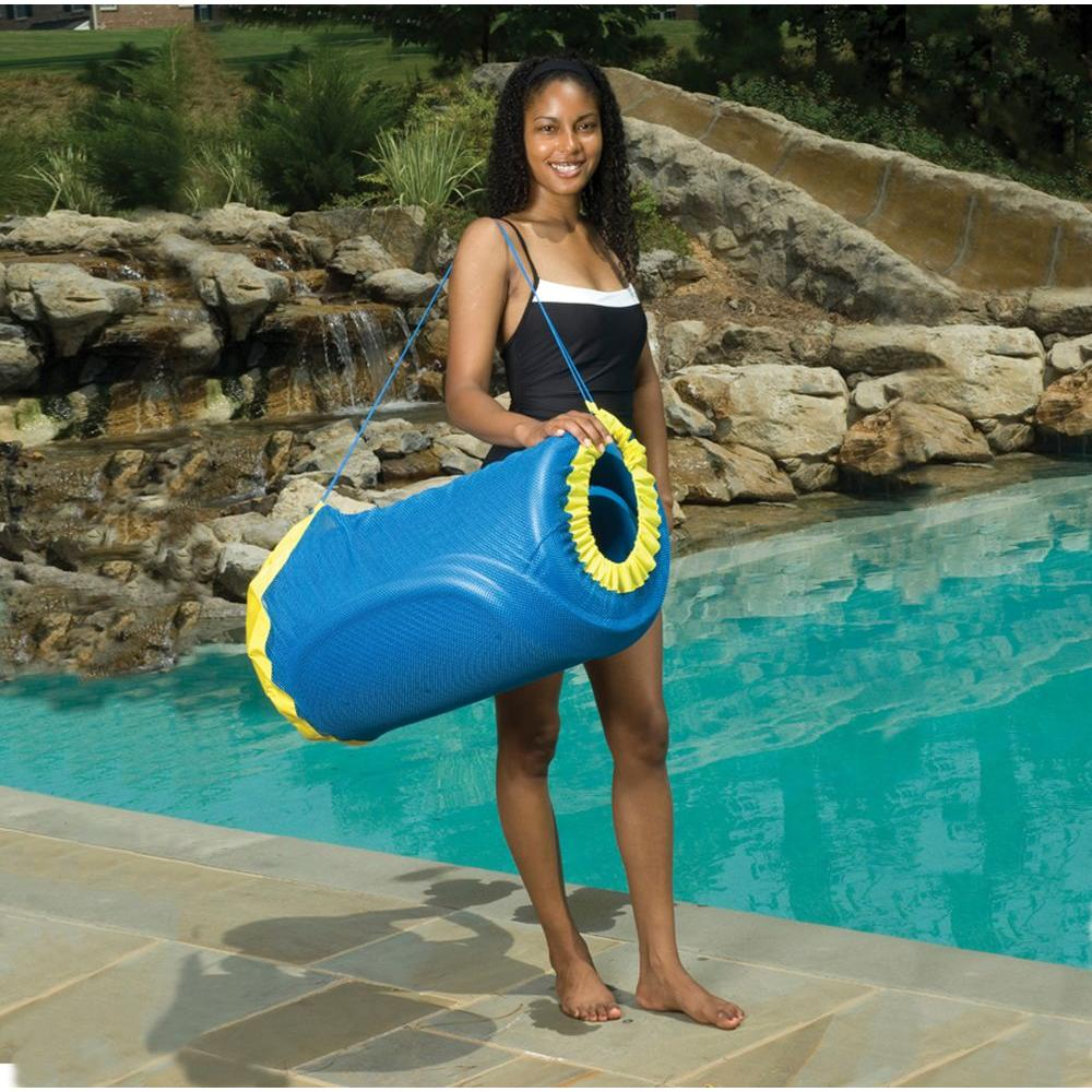 Blue Wave Handy Tote for Unsinkable Blue Pool Float, Blues