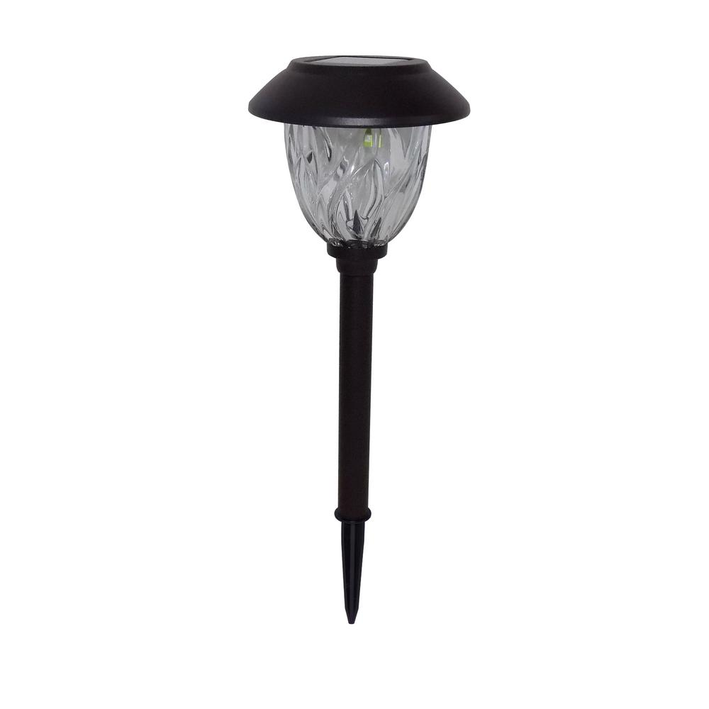 hampton bay Solar Bronze Outdoor Integrated LED 10-Lumens Warm White Landscape Path Light with Glass Lens