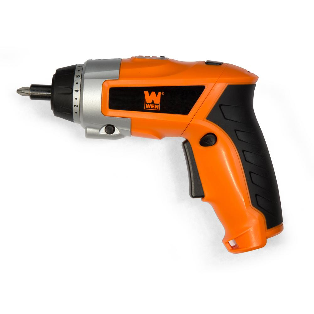 WEN 3.6-Volt Lithium-Ion Cordless 1/4 in. Electric Screwdriver