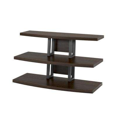 Sycamore Espresso and    Black TV Stand
