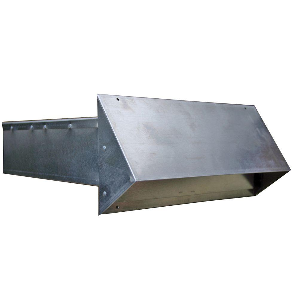 10 in. x 3.25 in. Rectangular Aluminum Hood with Back Draft