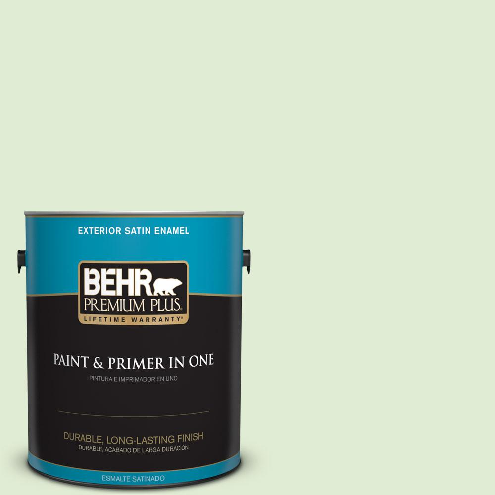 1-gal. #P380-2 Misted Fern Satin Enamel Exterior Paint
