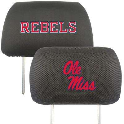 NCAA University of Mississippi (Ole Miss) Embroidered Head Rest Covers (2-Pack)