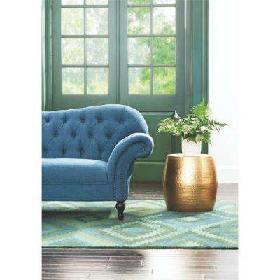 Baylee Drum Shiny Gold End Table