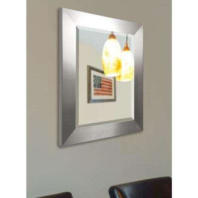 41.5 in. x 35.5 in. Silver Wide Rounded Beveled Wall Mirror