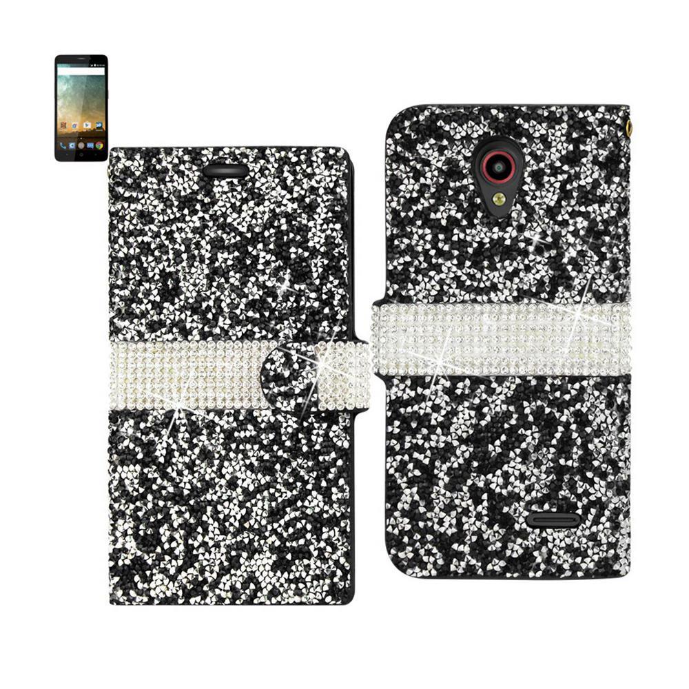 newest e2748 43d94 REIKO ZTE Prestige/Avid Plus Folio Case in Black