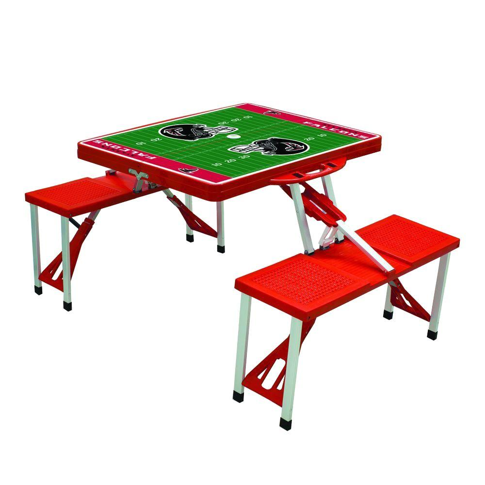 Picnic Time Atlanta Falcons Sport Patio Picnic Table