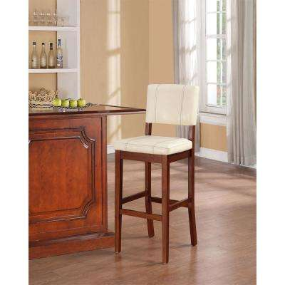 Milano 30 in. Cream Cushioned Bar Stool