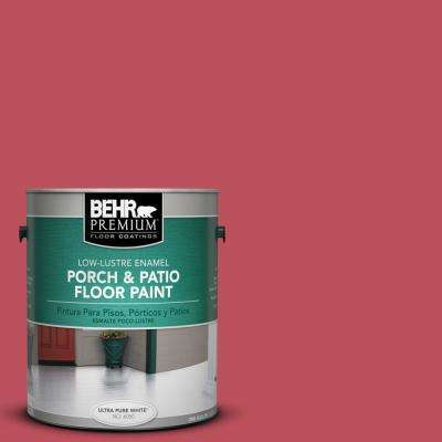 1 gal. #P140-6 Hibiscus Flower Low-Lustre Porch and Patio Floor Paint