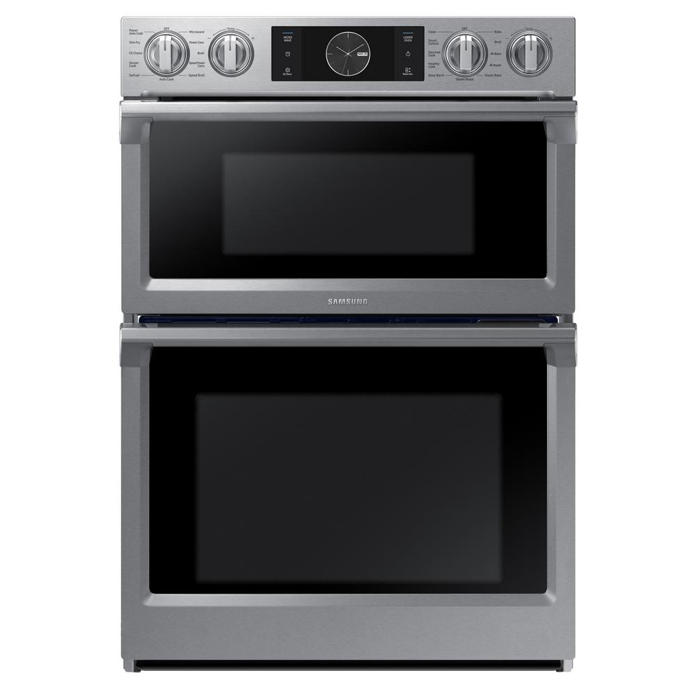 Samsung 30 In Electric Steam Cook Flex Duo Wall Oven Sd Built