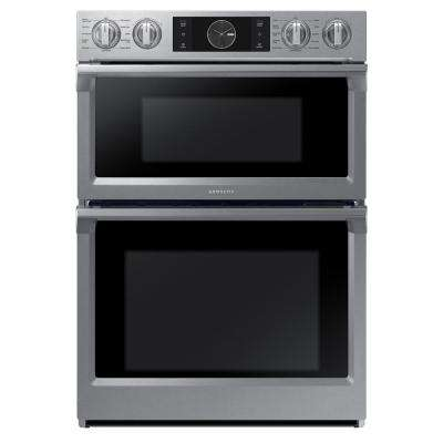 30 in. Electric Steam Cook, Flex Duo Wall Oven Speed Cook Built-In Microwave in Stainless Steel