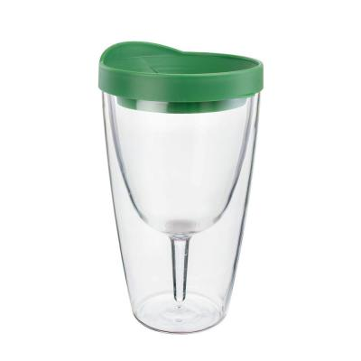 Verde Green Double Wall Acrylic Insulated Wine Tumbler