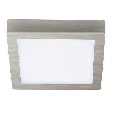 Fueva 1 Matte Nickel Integrated LED Ceiling Light