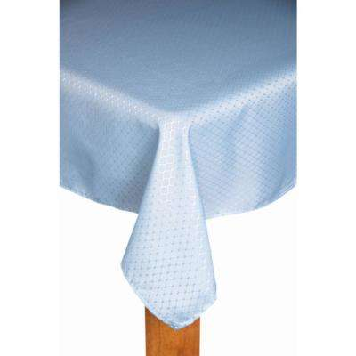 Chelton 60 in. x 84 in. Cadet Blue 100% Polyester Tablecloth
