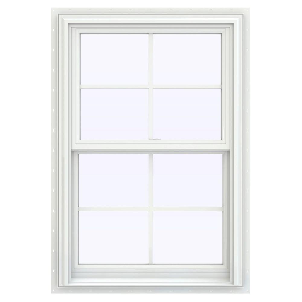Jeld wen 27 5 in x 40 5 in v 2500 series double hung for Window treatments for double hung windows