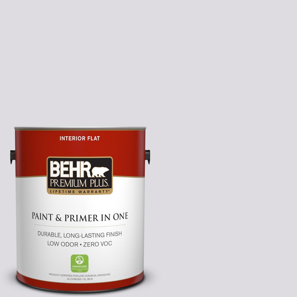BEHR Premium Plus 1-gal. #N100-1 Enigma Flat Interior Paint