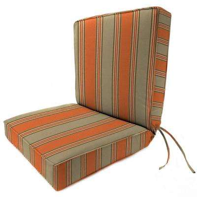 sunbrella passage poppy outdoor dining chair cushion
