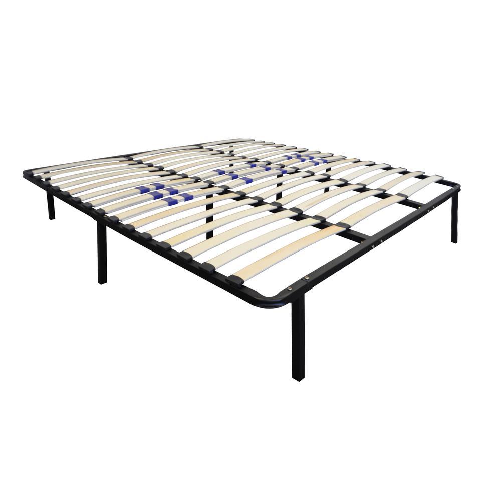 Rest Rite Queen-Size Bed Frame with Wood Slat Platform