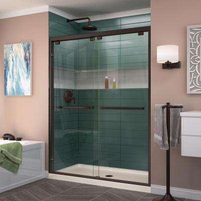 Encore 56 in. to 60 in. x 76 in. Frameless Bypass Shower Door in Oil Rubbed Bronze