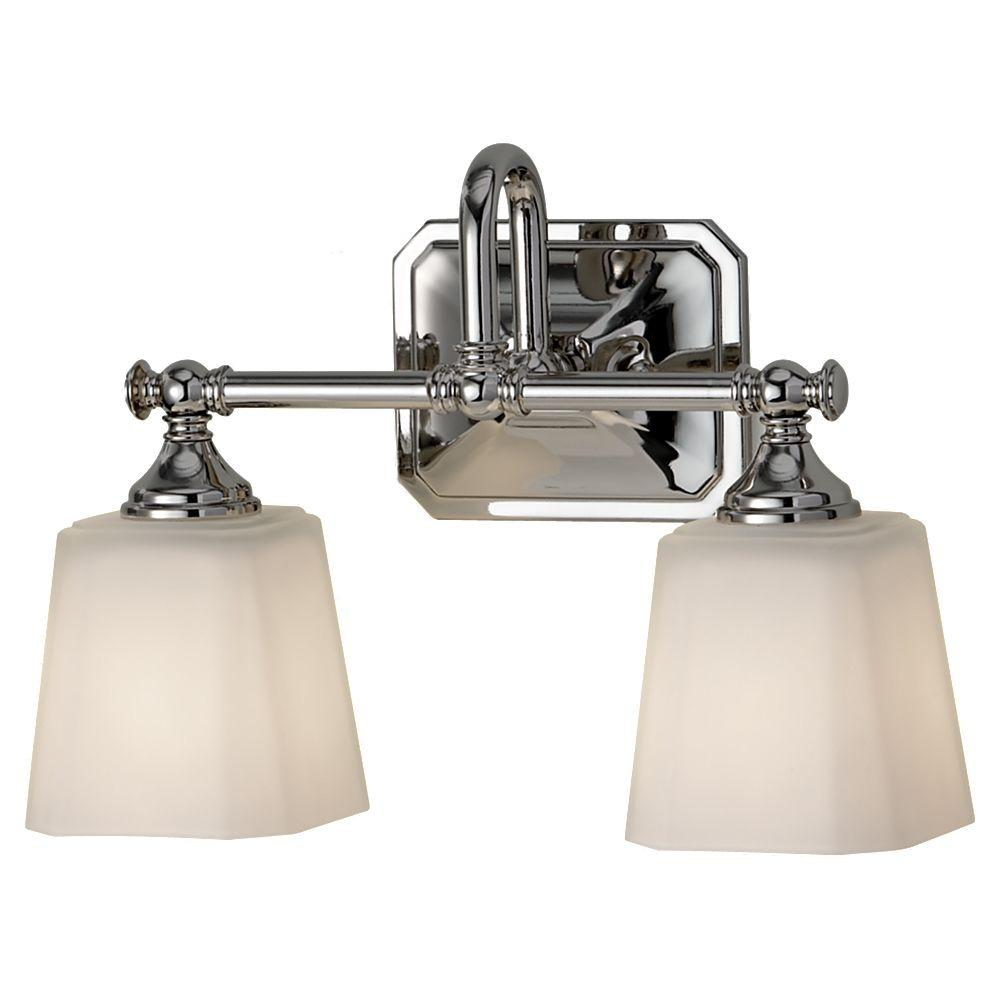 Feiss Concord 2 Light Polished Nickel Vanity Light Vs19702 Pn The Home Depot