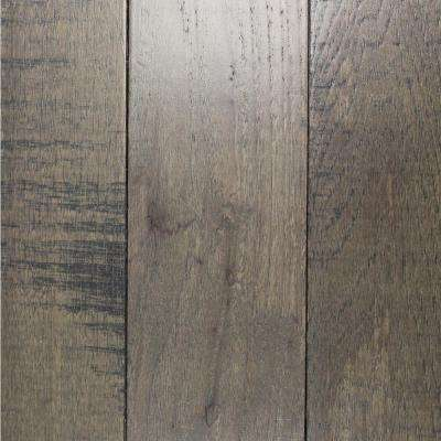 Take Home Sample - Band Sawn Grey Hickory Solid Hardwood Flooring - 5 in. x 7 in.