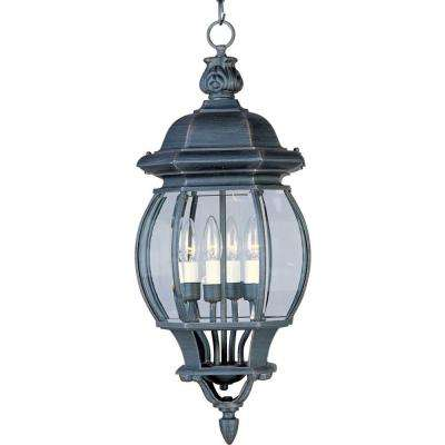 Crown Hill 4-Light Rust Patina Outdoor Hanging Lantern