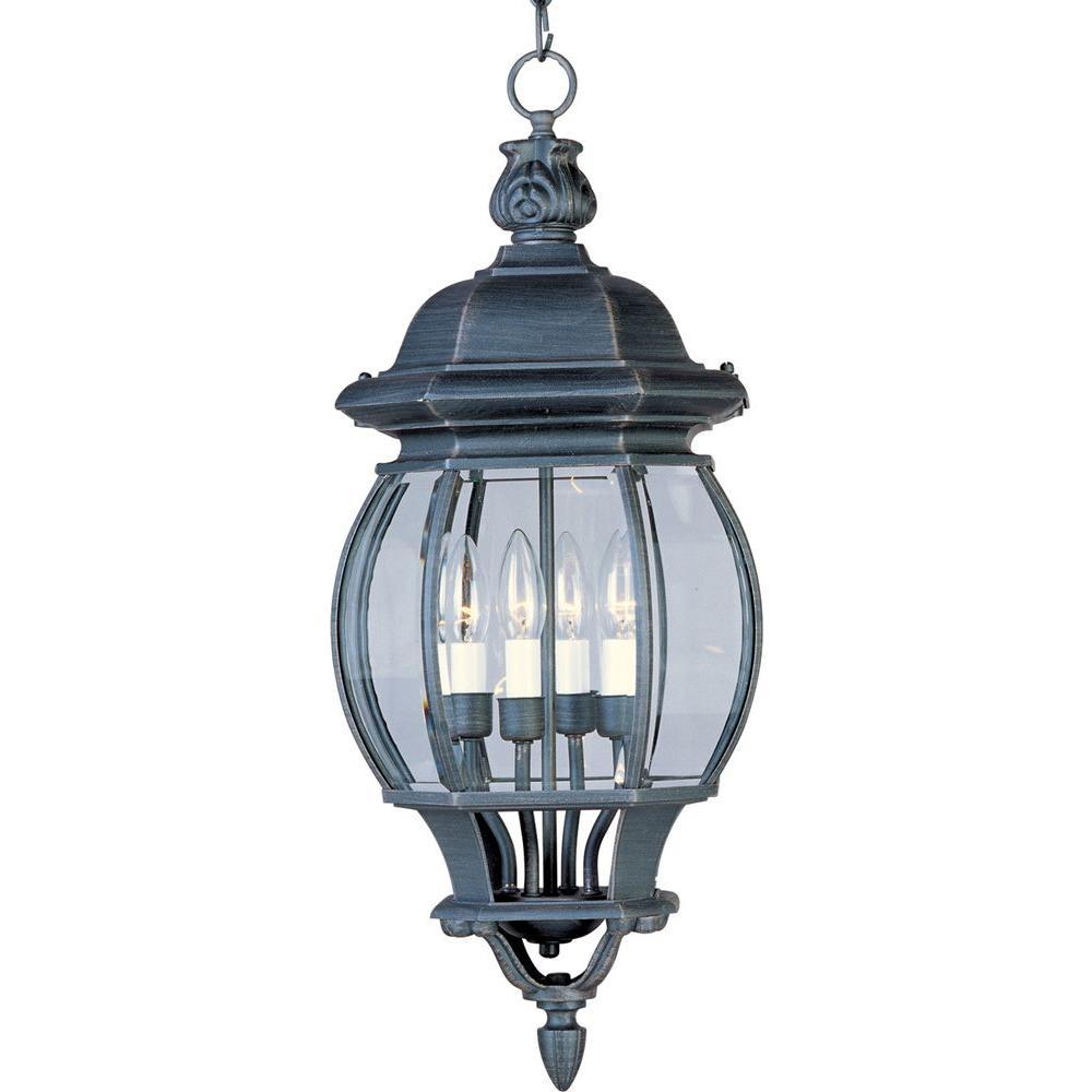 Crown Hill 4-Light Rust Patina Outdoor Hanging Lantern