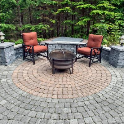 83.52 in. x 83.52 in. x 2.375 in. Summit Blend Concrete Old Dominion Paver Circle Kit