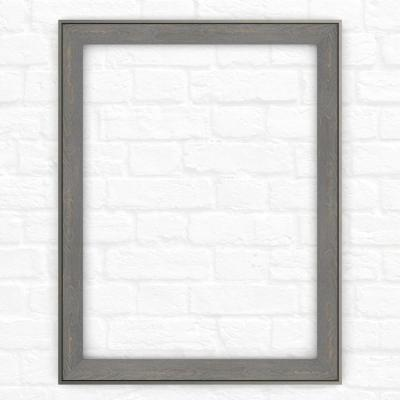 23 in. x 33 in. (S2) Rectangular Mirror Frame in Weathered Wood