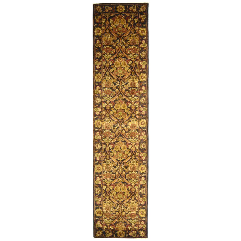 Antiquity Dark Plum/Gold 2 ft. 3 in. x 12 ft. Runner