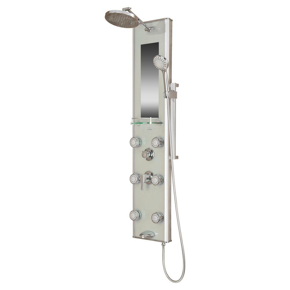 Pulse Showerspas Kihei Ii 6 Jet Shower System In Chrome
