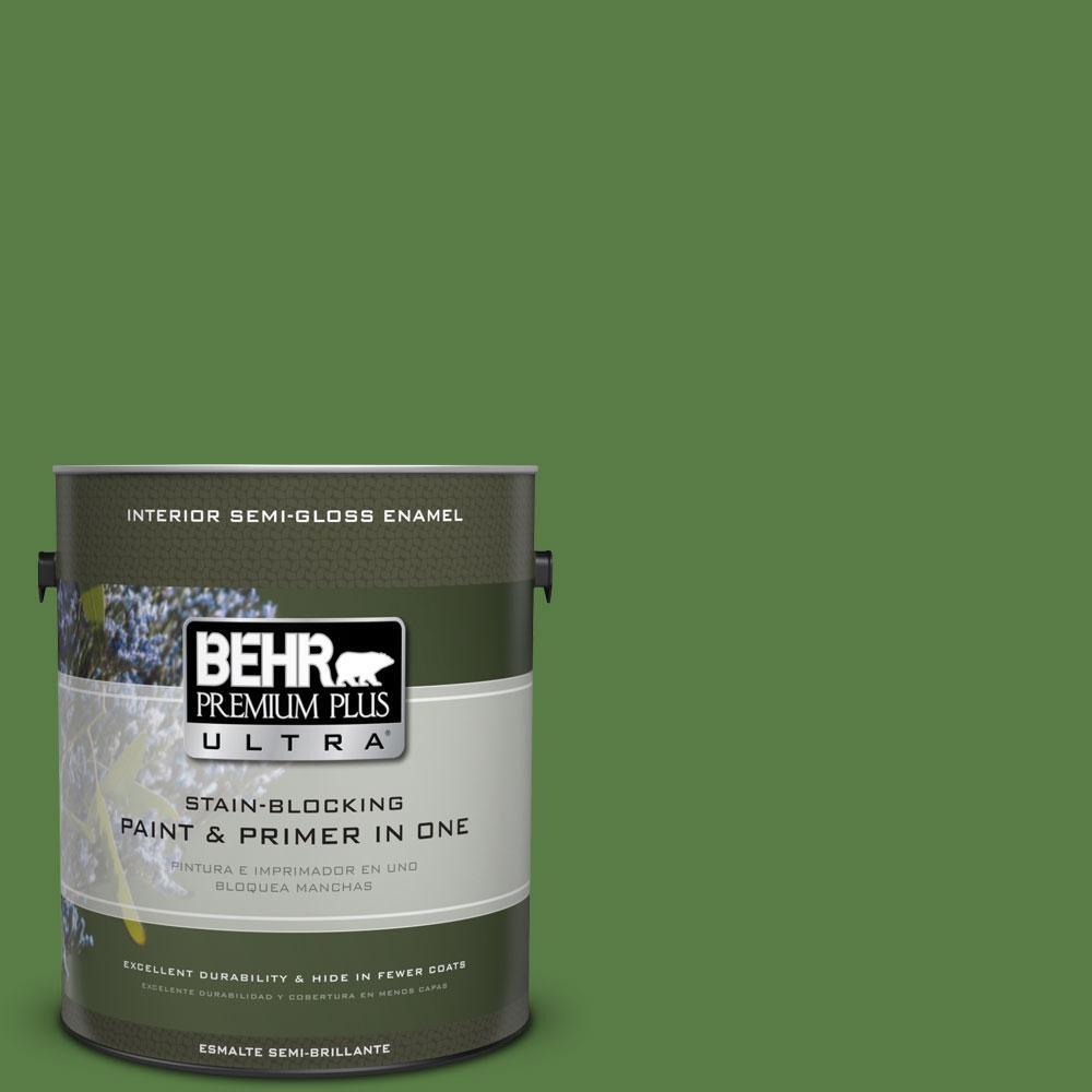 1-gal. #440D-6 Grassy Field Semi-Gloss Enamel Interior Paint