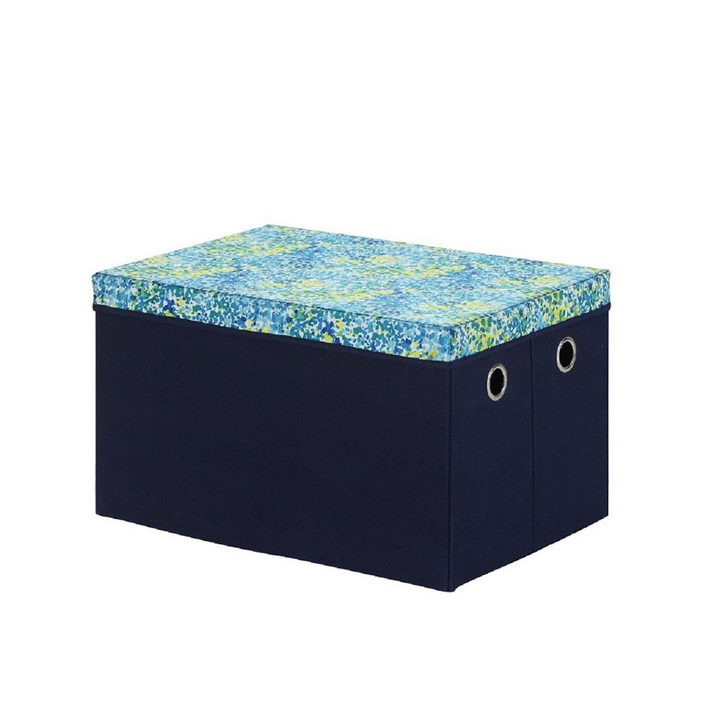 wonderful Teal Storage Trunk Part - 13: Multi Colored Collapsible Storage Trunk with Lid
