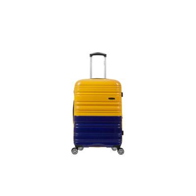 2Tone Navy/Orange 20 in. Expandable Hardside Spinner Carry on Suitcase