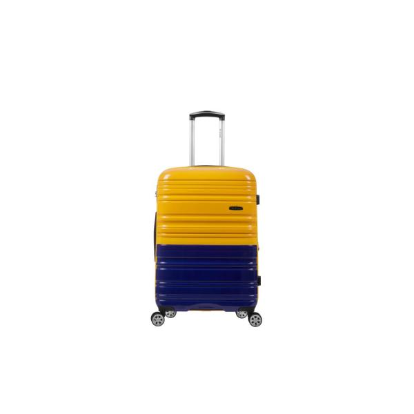 Rockland 2Tone Navy/Orange 20 in. Expandable Hardside Spinner Carry on Suitcase