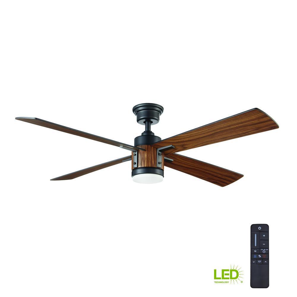 Home Decorators Collection Tybault 52 In Led Dc Motor Natural Iron Ceiling Fan Wiring Diagram