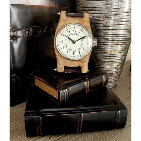 LITTON LANE - Vintage Rectangular Wood and Synthetic Leather Book Boxes (Set of 3)