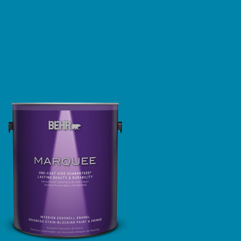 BEHR MARQUEE 1 gal. #MQ4-53 Tibetan Turquoise One-Coat Hide Eggshell Enamel Interior Paint