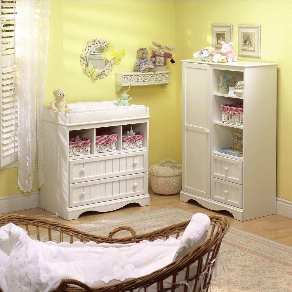 Charmant South Shore Savannah 2 Drawer Pure White Changing Table
