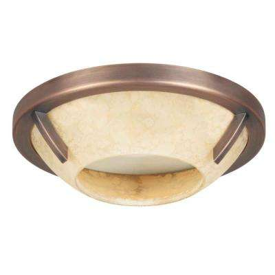 Brushed Copper Bronze Recessed Deco Trim with Speckled Amber Glass Shade  sc 1 st  The Home Depot & Hampton Bay - Bronze/copper metallic - Recessed Lighting Trims ... azcodes.com