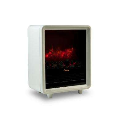 1500 Watt Mini Fireplace Ceramic Electric Portable Heater - White