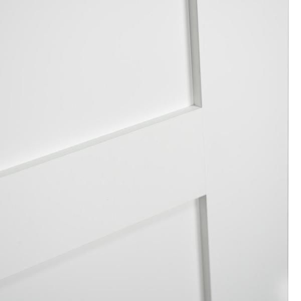 Kimberly Bay 30 In X 80 In White 5 Panel Shaker Solid Core Wood Interior Door Slab Dpsha5w30 The Home Depot