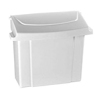 White Durable Plastic Sanitary Napkin Receptacle