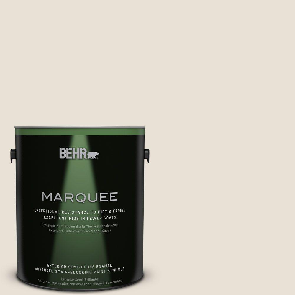 1 gal. #MQ3-13 Crisp Linen Semi-Gloss Enamel Exterior Paint