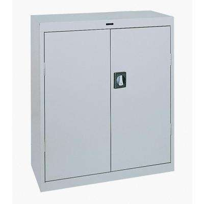 42 in. H x 36 in. W x 18 in. D Steel Freestanding Storage Cabinet in Dove Gray