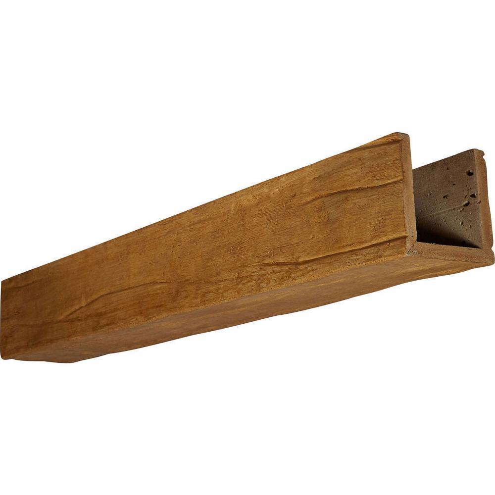 4 in. x 8 in. x 14 ft. 3-Sided (U-Beam) Riverwood Puritan Pine Faux Wood Beam