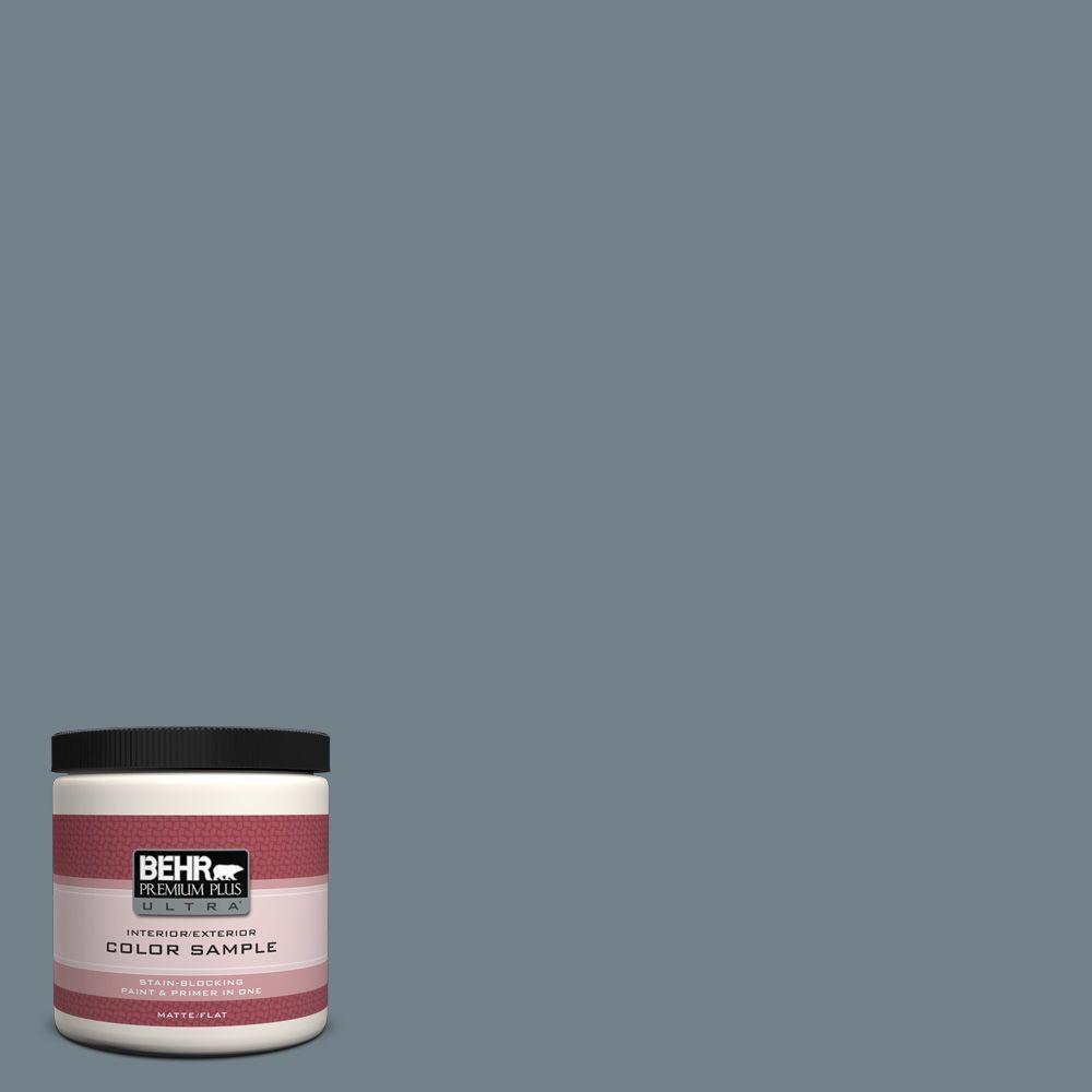 BEHR Premium Plus Ultra 8 oz. #PPU13-4 Atlantic Shoreline Interior/Exterior Paint Sample